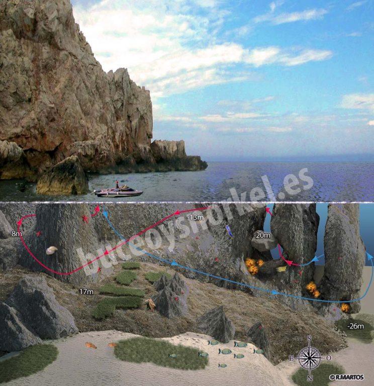 Buceo en Es Vedranell de Ibiza